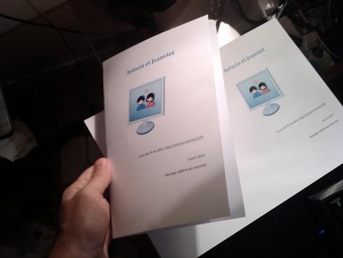 Couverture imprimée