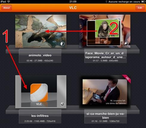 VLC sur iPad