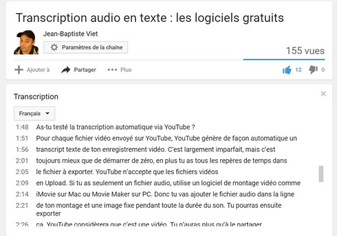 transcription-youtube