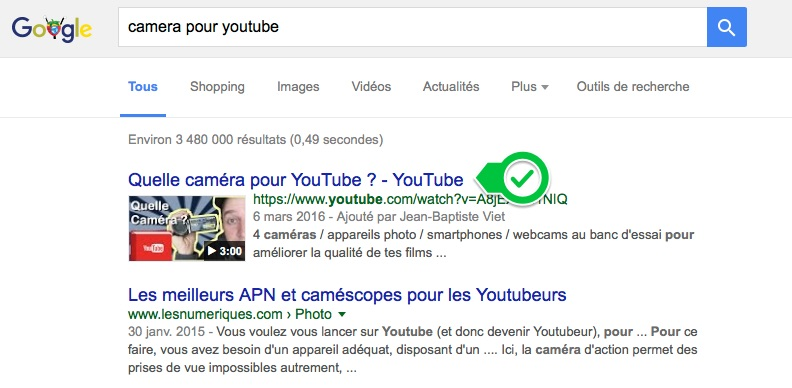 camera pour youtube